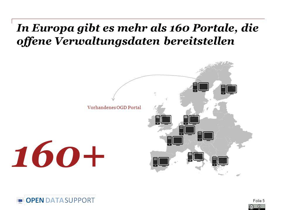 In Europa gibt es mehr als 160 Portale, die offene Verwaltungsdaten bereitstellen