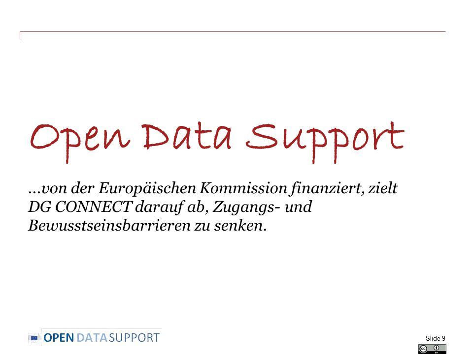 Open Data Support ...von der Europäischen Kommission finanziert, zielt DG CONNECT darauf ab, Zugangs- und Bewusstseinsbarrieren zu senken.