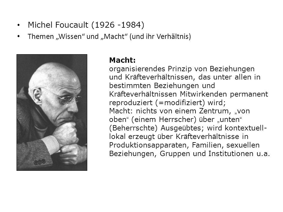 """Themen """"Wissen und """"Macht (und ihr Verhältnis)"""