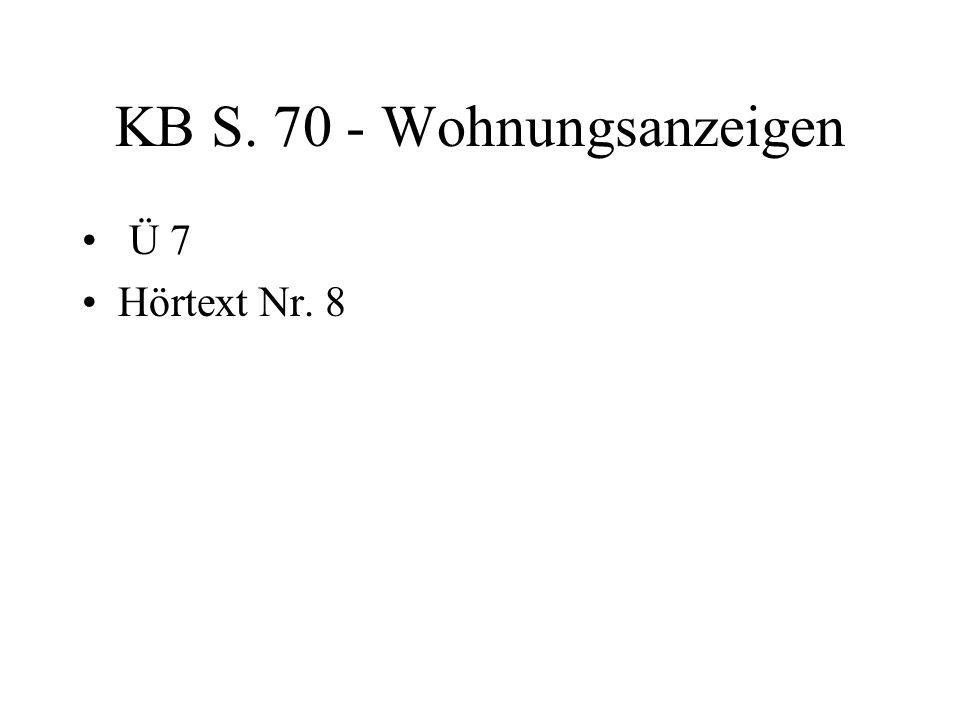 KB S. 70 - Wohnungsanzeigen