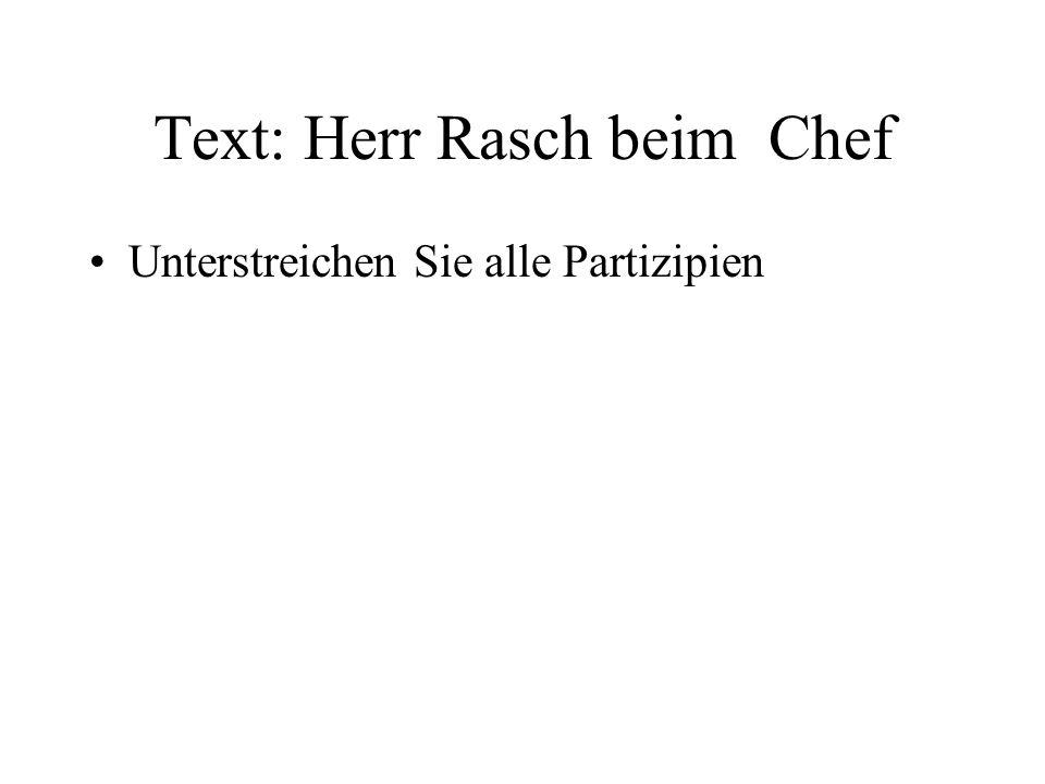 Text: Herr Rasch beim Chef