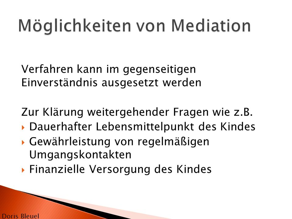 Möglichkeiten von Mediation