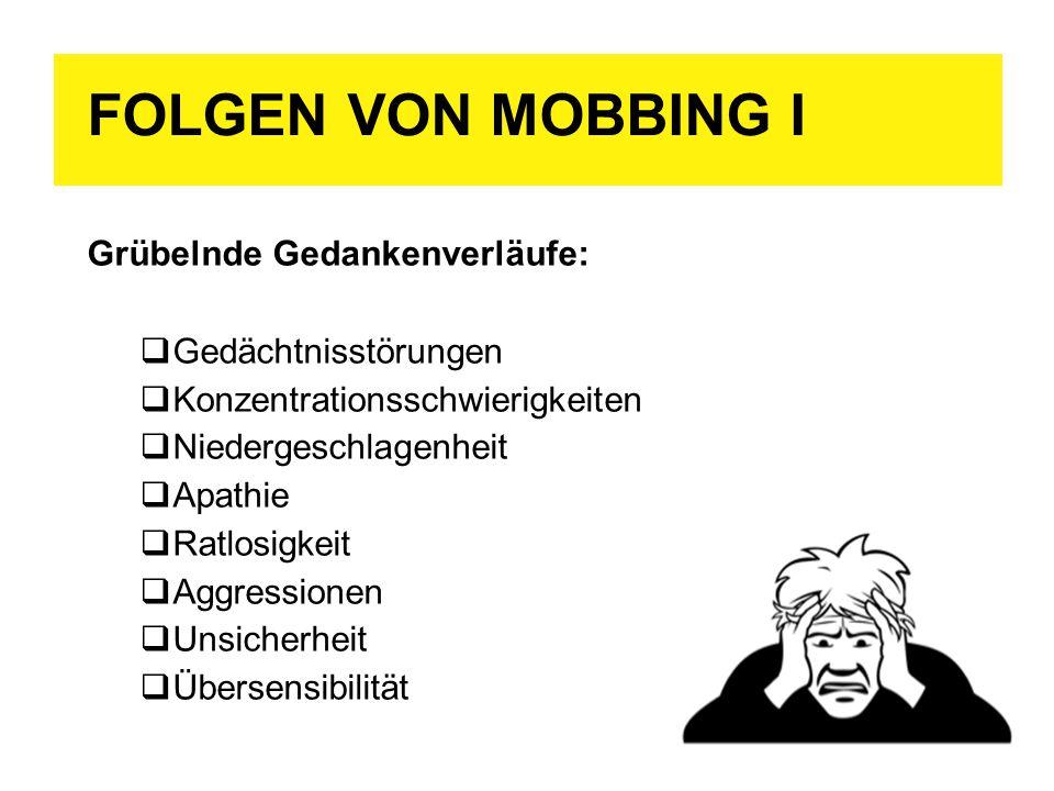 folgen von mobbing