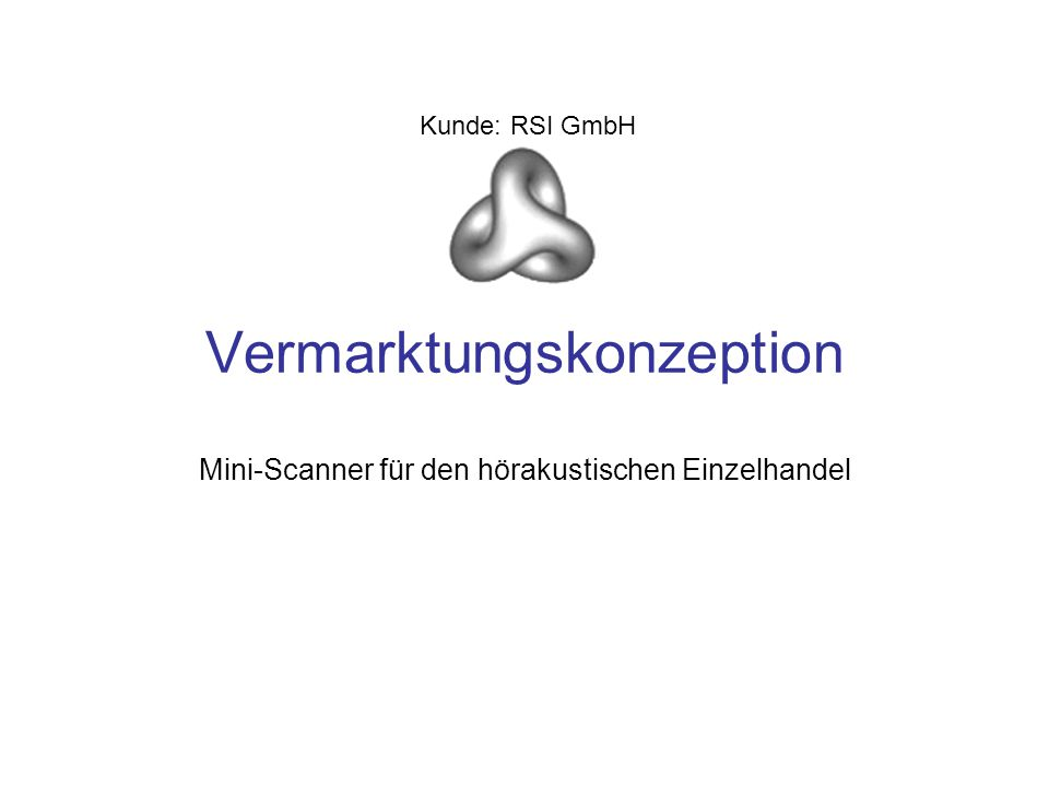Vermarktungskonzeption