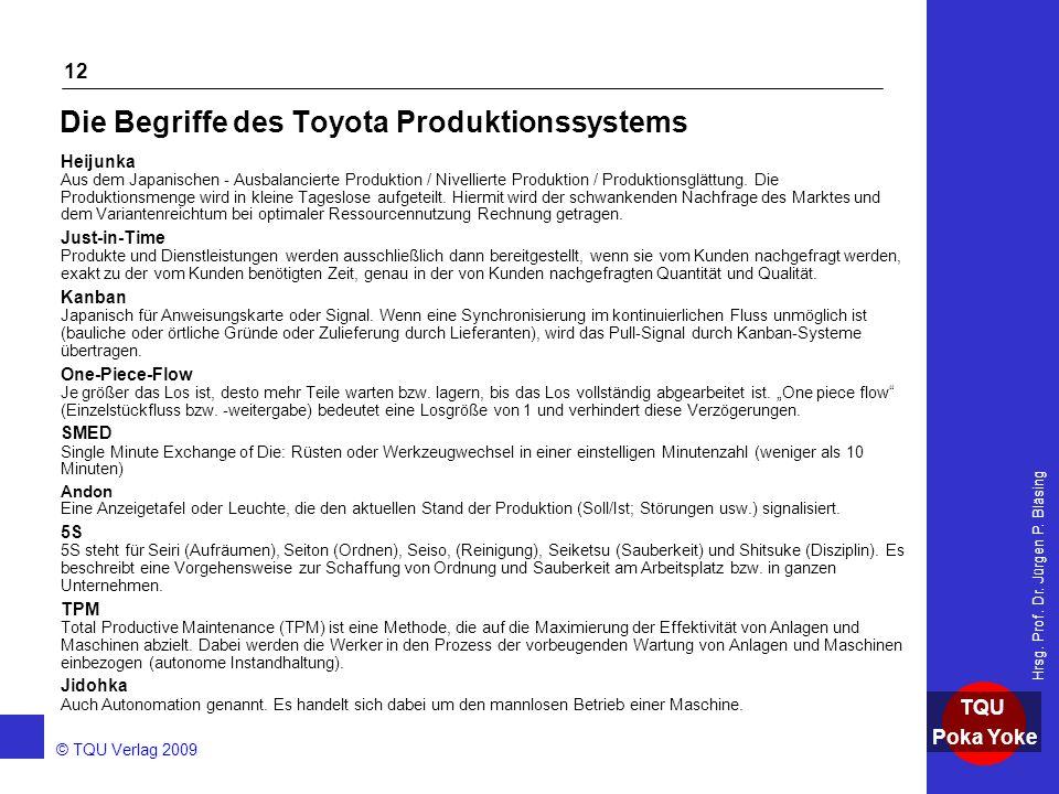 Die Begriffe des Toyota Produktionssystems