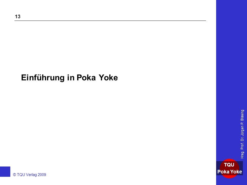 Einführung in Poka Yoke