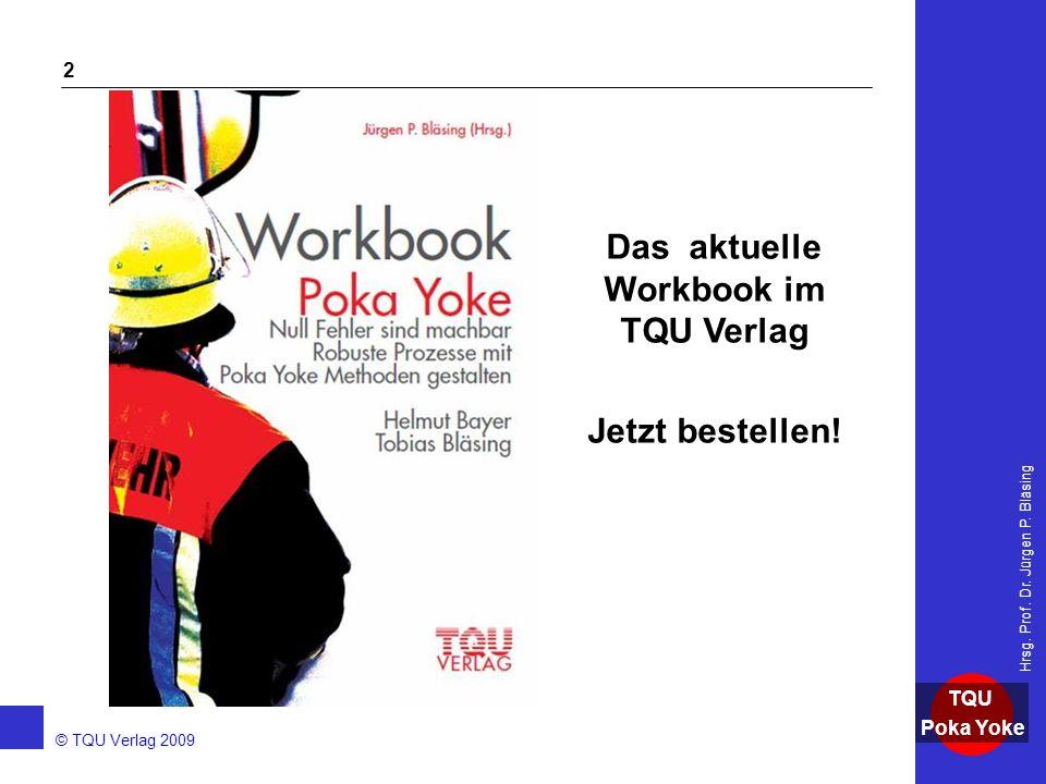 Das aktuelle Workbook im TQU Verlag