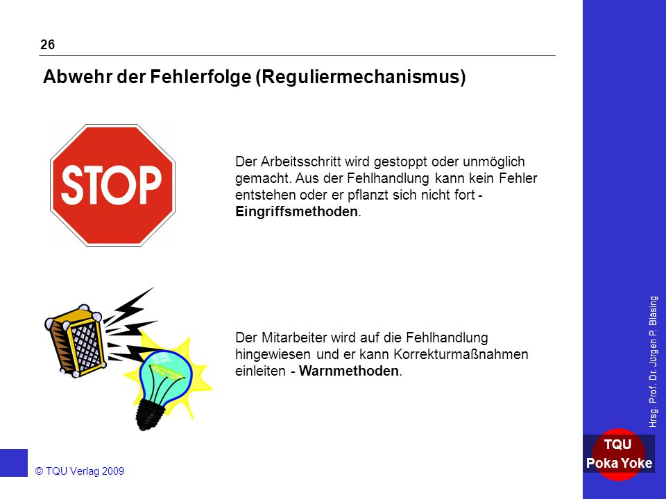 Abwehr der Fehlerfolge (Reguliermechanismus)