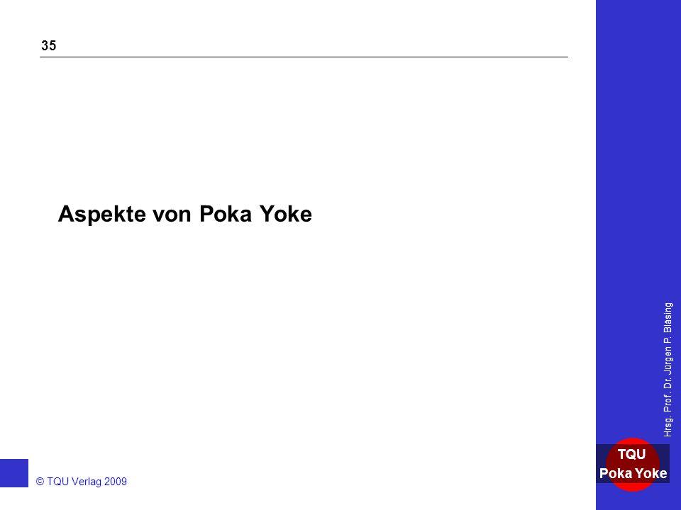 Aspekte von Poka Yoke