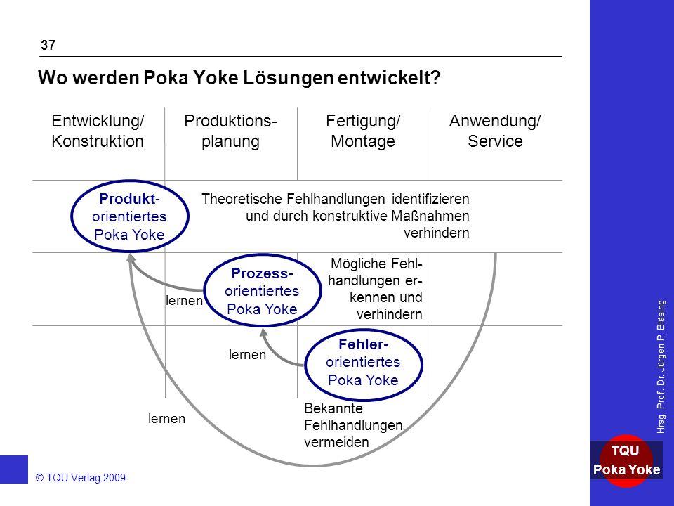 Wo werden Poka Yoke Lösungen entwickelt