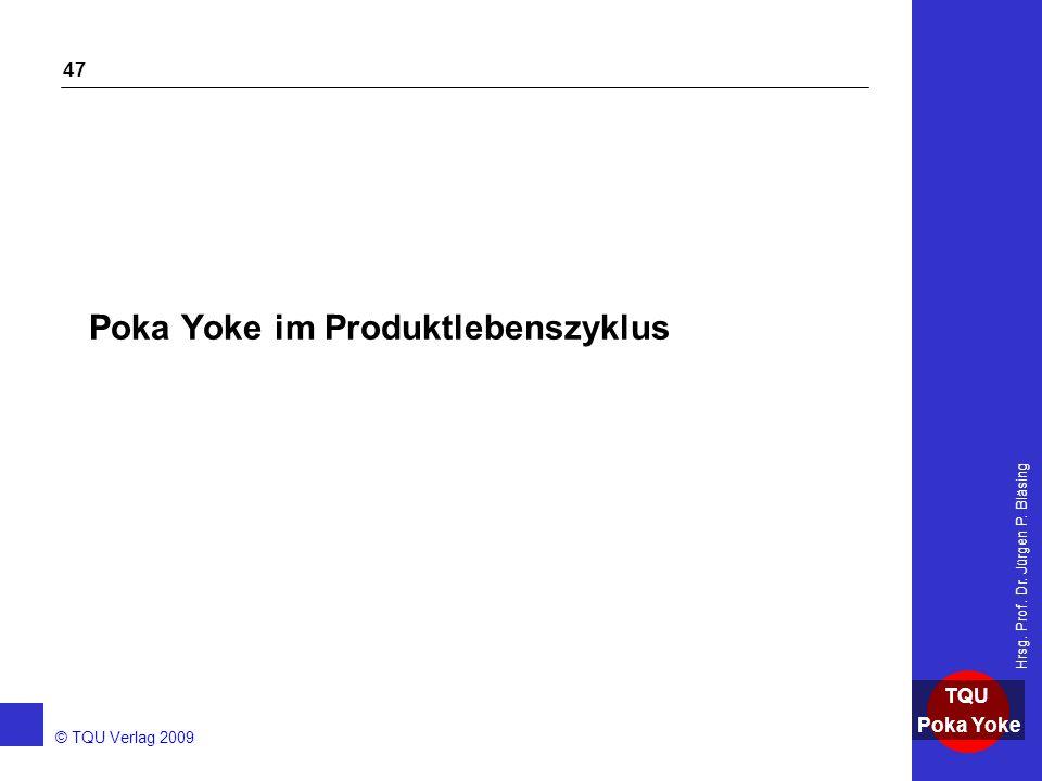 Poka Yoke im Produktlebenszyklus