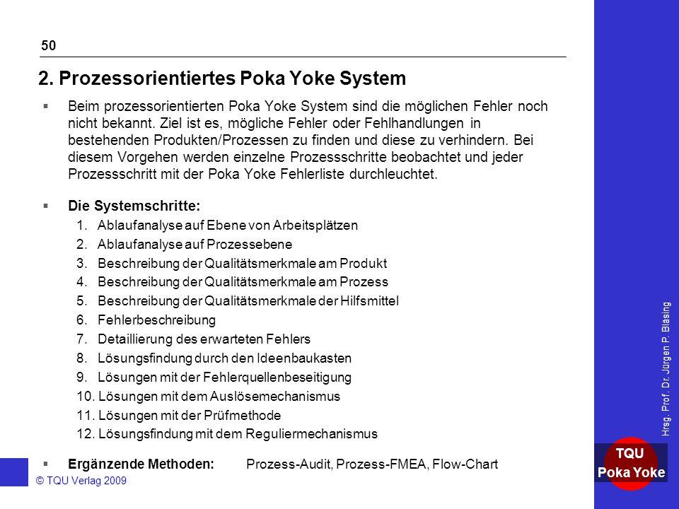 2. Prozessorientiertes Poka Yoke System