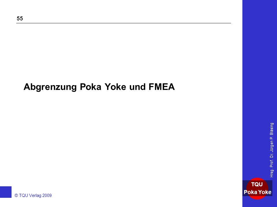 Abgrenzung Poka Yoke und FMEA