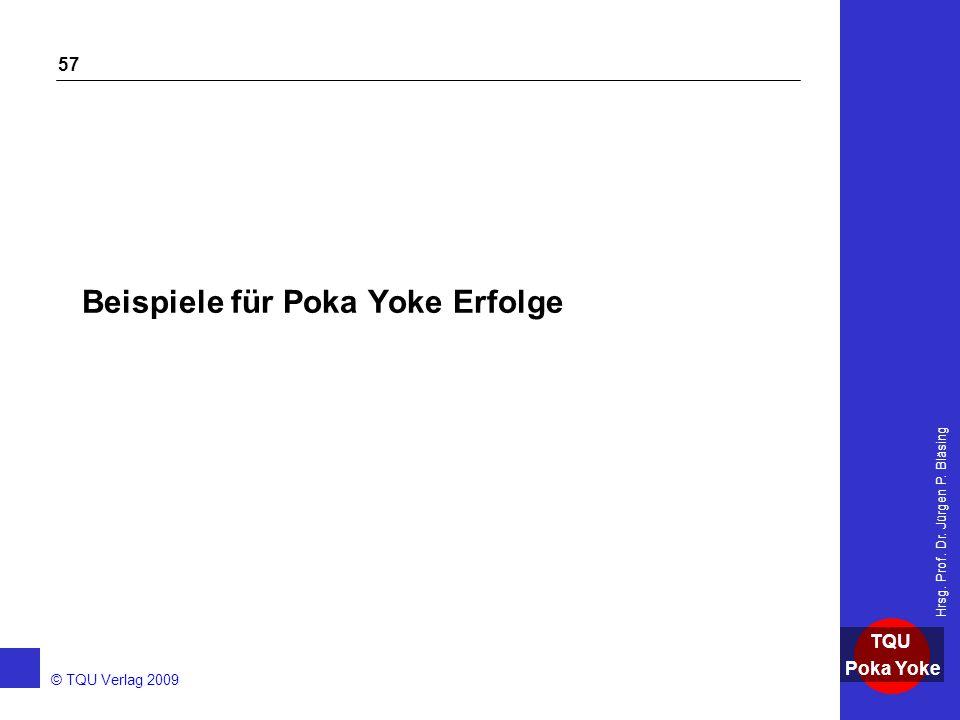 Beispiele für Poka Yoke Erfolge