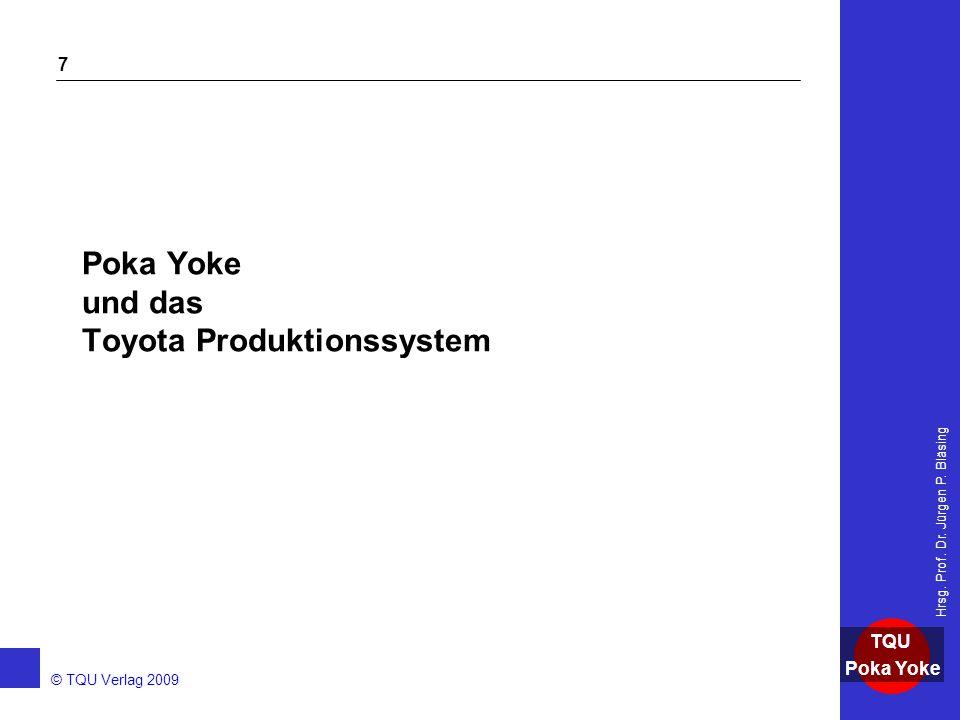 Poka Yoke und das Toyota Produktionssystem