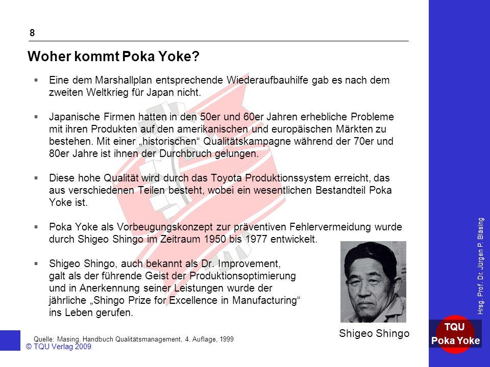 Woher kommt Poka Yoke Shigeo Shingo