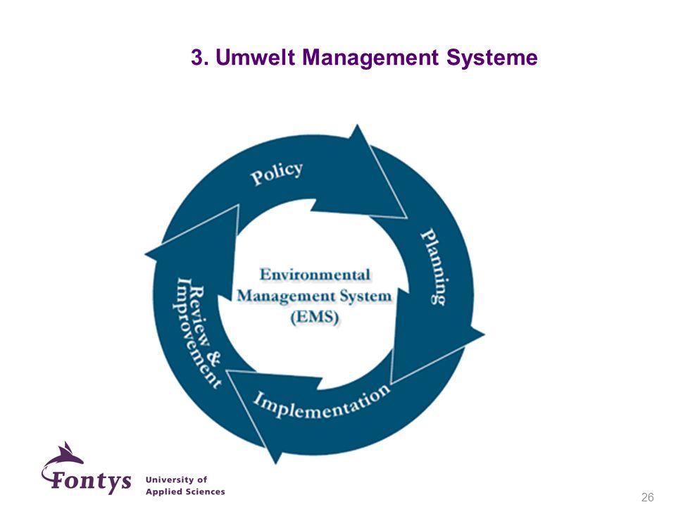 3. Umwelt Management Systeme