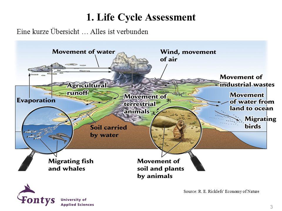1. Life Cycle Assessment Eine kurze Übersicht … Alles ist verbunden