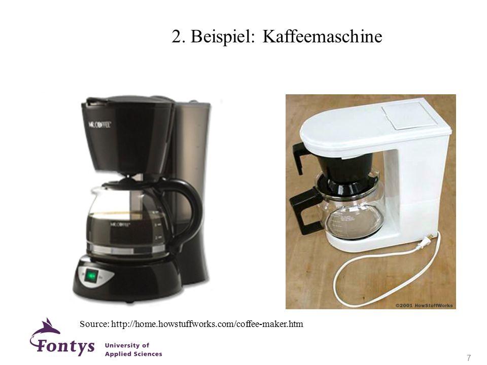 2. Beispiel: Kaffeemaschine