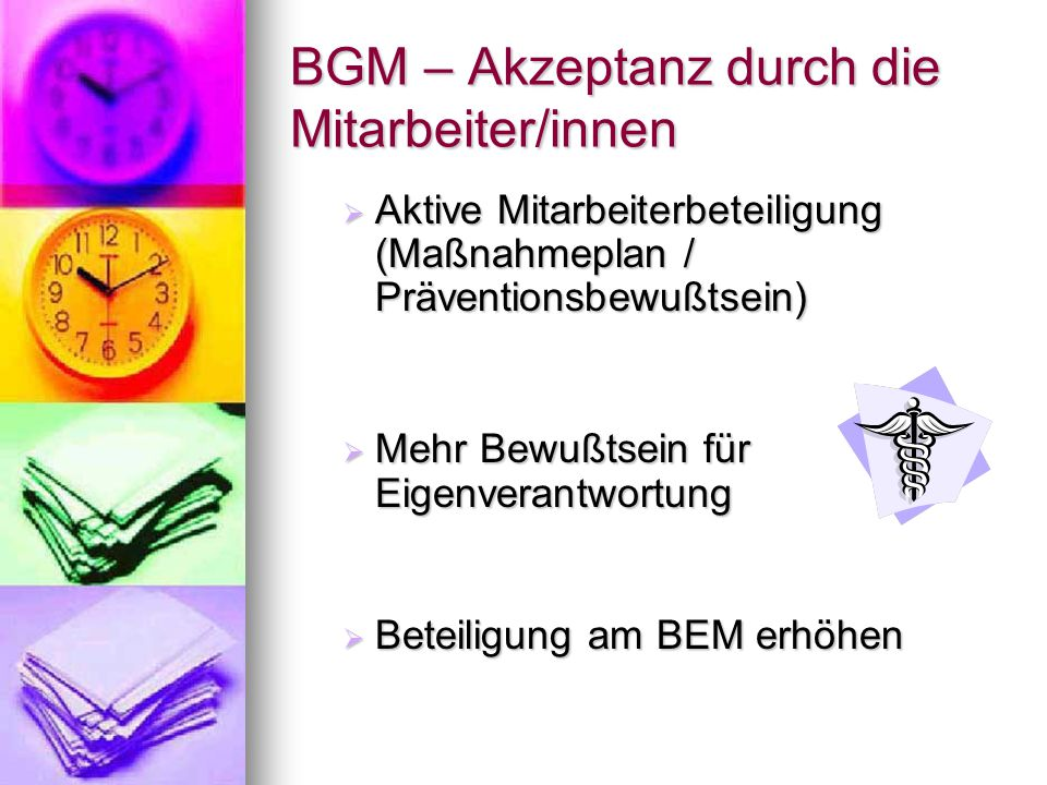 BGM – Akzeptanz durch die Mitarbeiter/innen