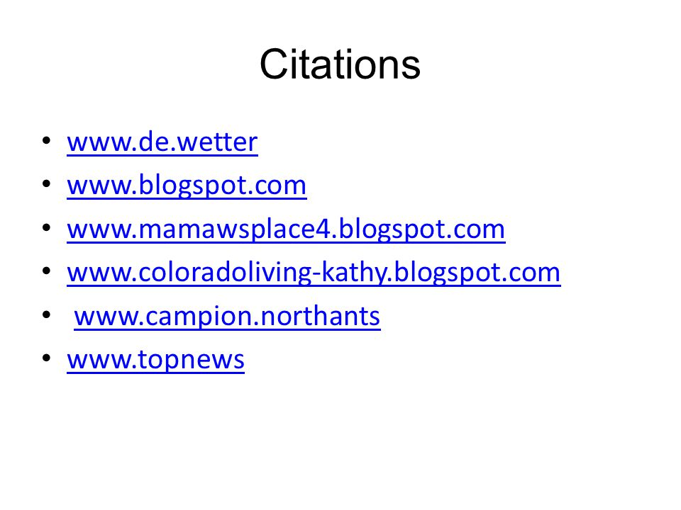 Citations www.de.wetter www.blogspot.com www.mamawsplace4.blogspot.com