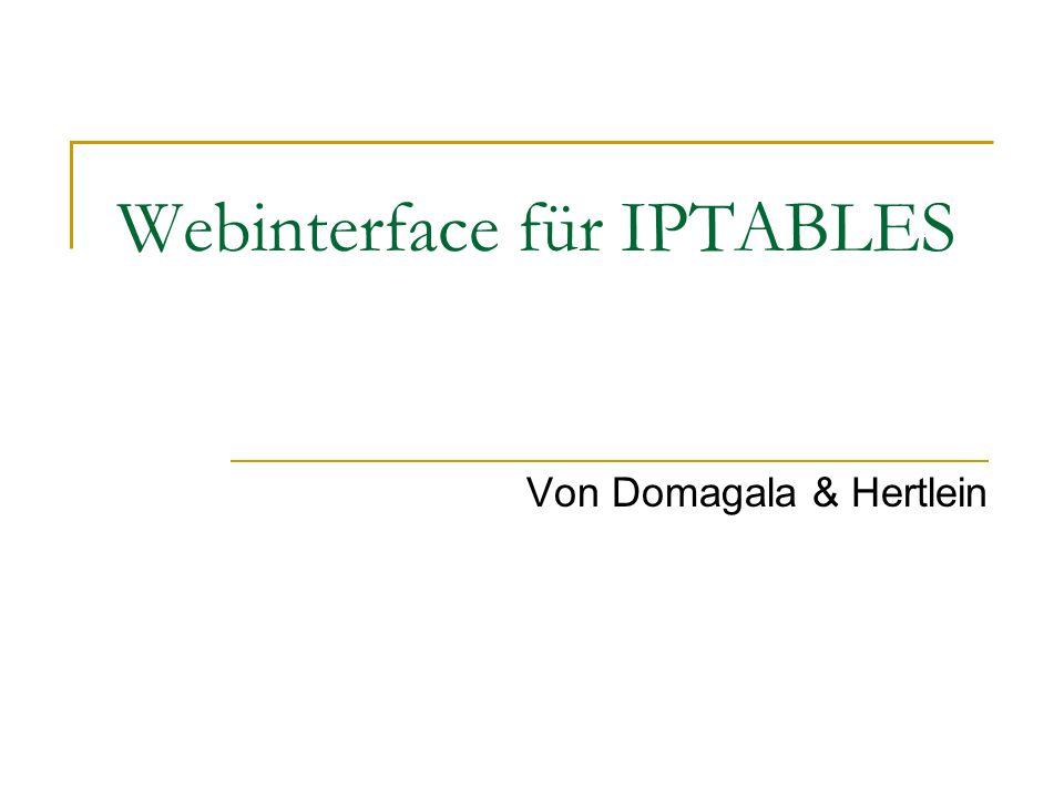 Webinterface für IPTABLES