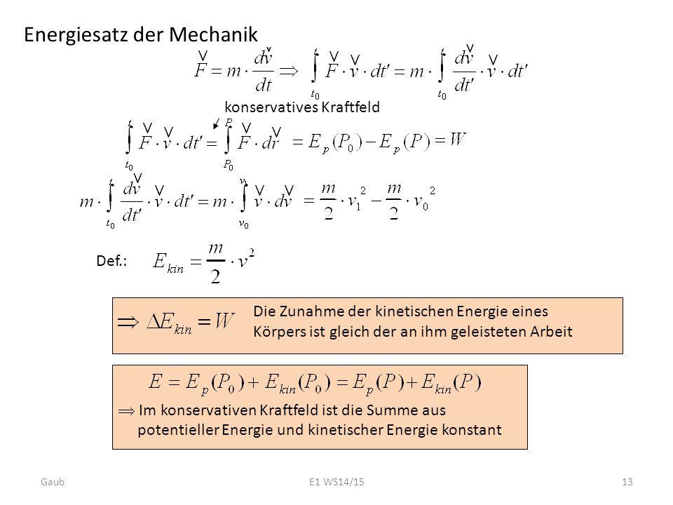 Energiesatz der Mechanik
