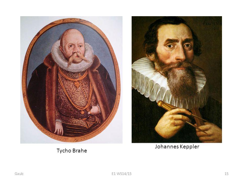 Johannes Keppler Tycho Brahe Gaub E1 WS14/15