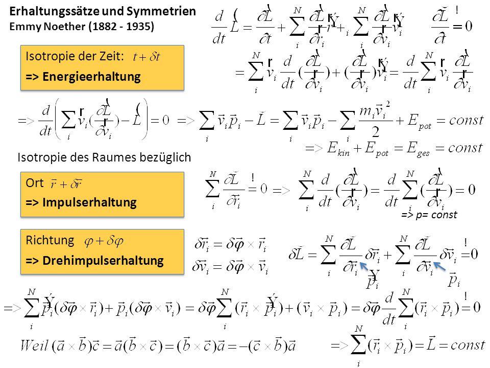 Erhaltungssätze und Symmetrien