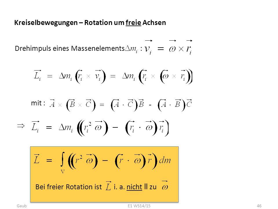 Kreiselbewegungen – Rotation um freie Achsen