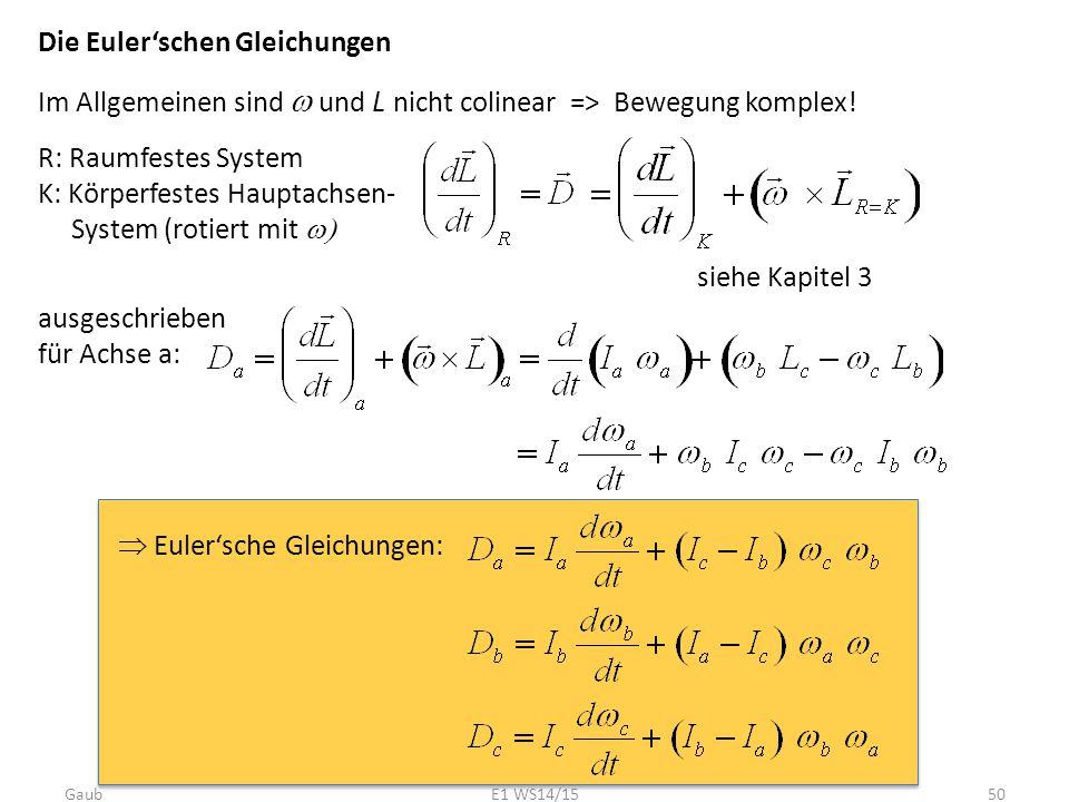 Die Euler'schen Gleichungen