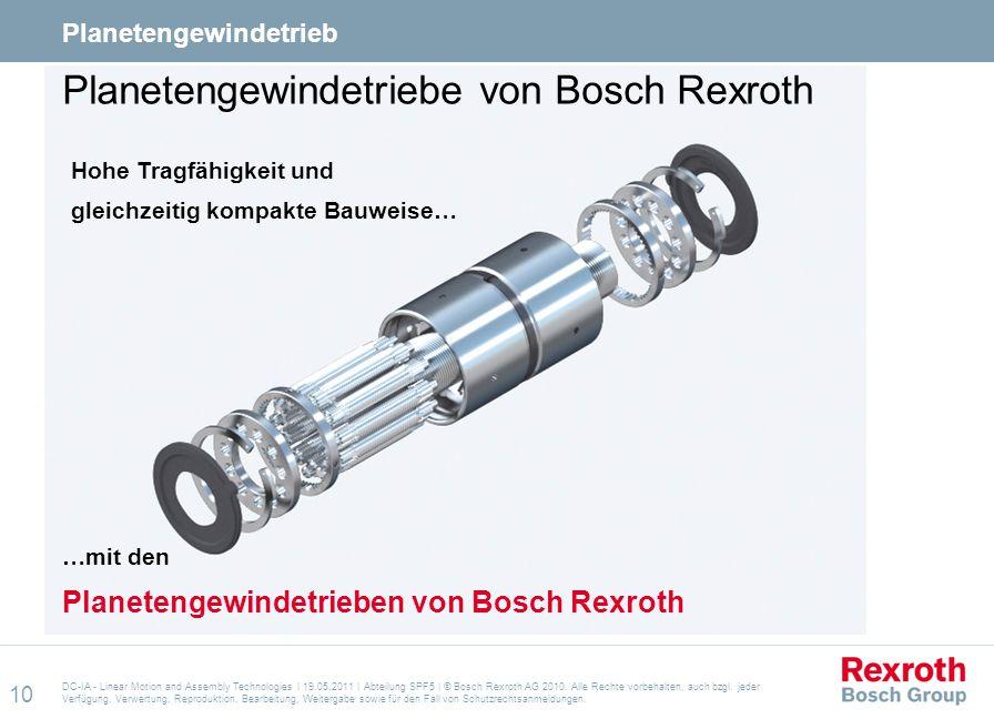 Planetengewindetriebe von Bosch Rexroth