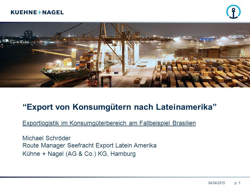 Export von Konsumgütern nach Lateinamerika
