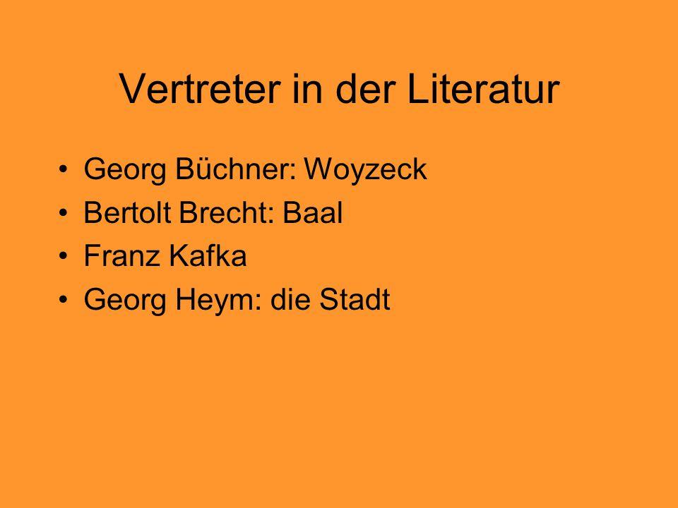 Vertreter in der Literatur
