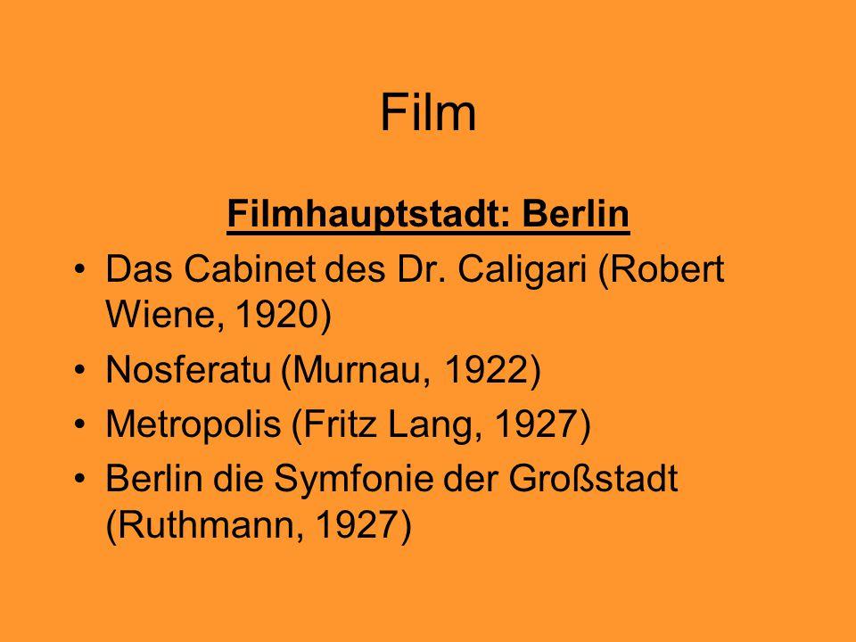 Filmhauptstadt: Berlin