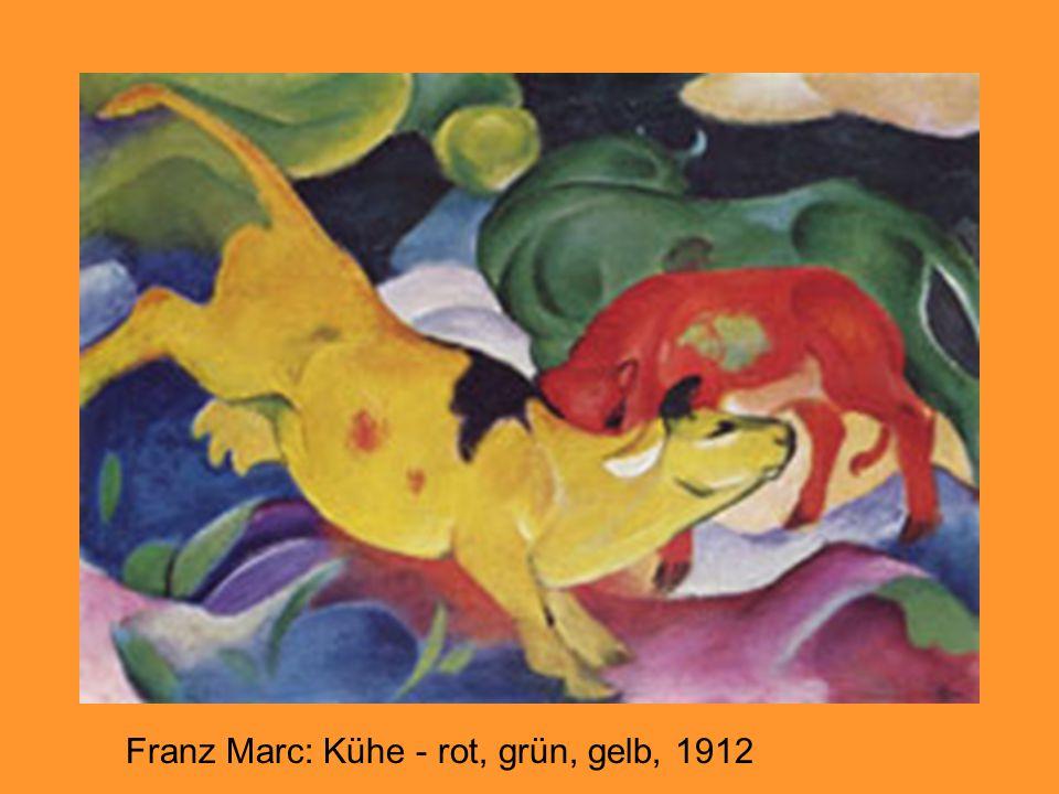 Franz Marc: Kühe - rot, grün, gelb, 1912