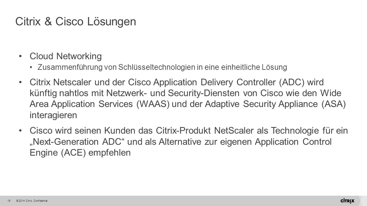 Citrix & Cisco Lösungen