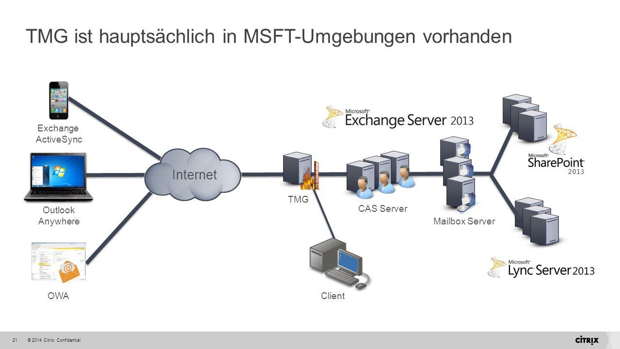 TMG ist hauptsächlich in MSFT-Umgebungen vorhanden