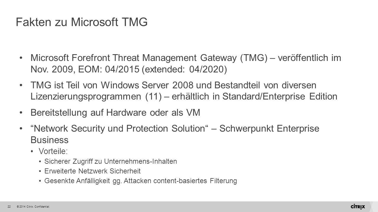 Fakten zu Microsoft TMG