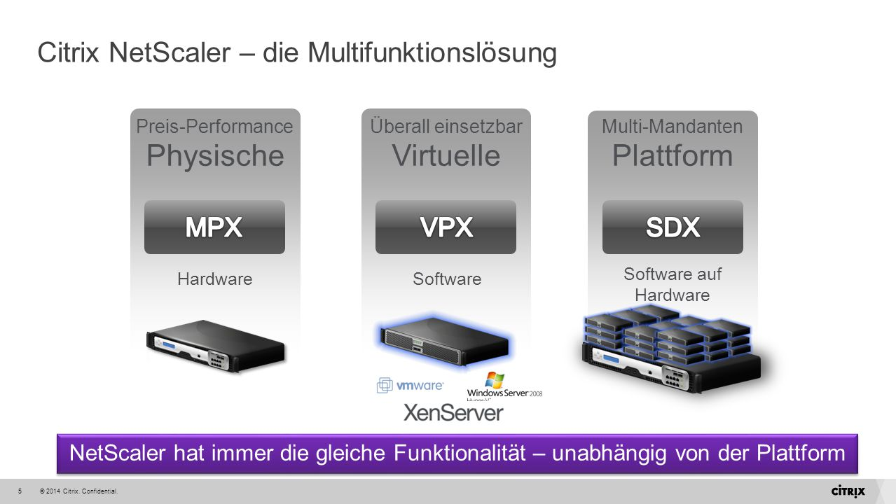 Citrix NetScaler – die Multifunktionslösung