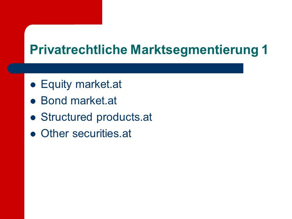 Privatrechtliche Marktsegmentierung 1