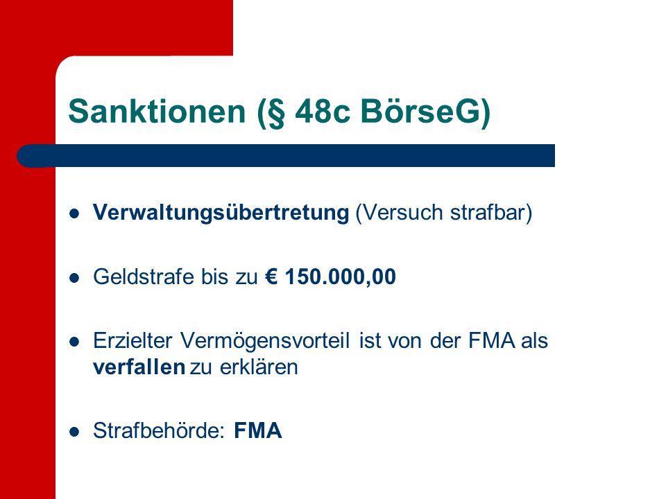 Sanktionen (§ 48c BörseG)