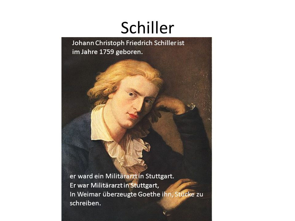 Schiller Johann Christoph Friedrich Schiller ist