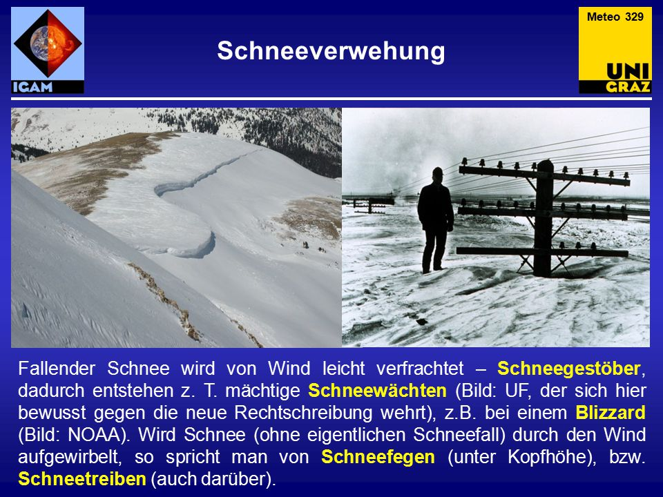 Meteo 329 Schneeverwehung.