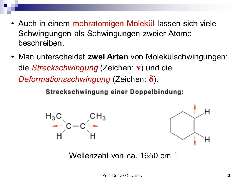 Auch in einem mehratomigen Molekül lassen sich viele Schwingungen als Schwingungen zweier Atome beschreiben.