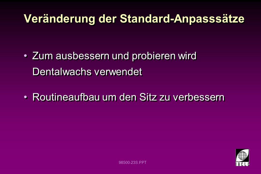 Veränderung der Standard-Anpasssätze