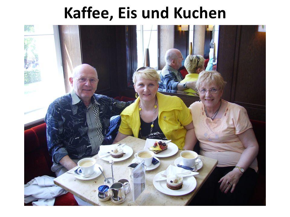 Kaffee, Eis und Kuchen