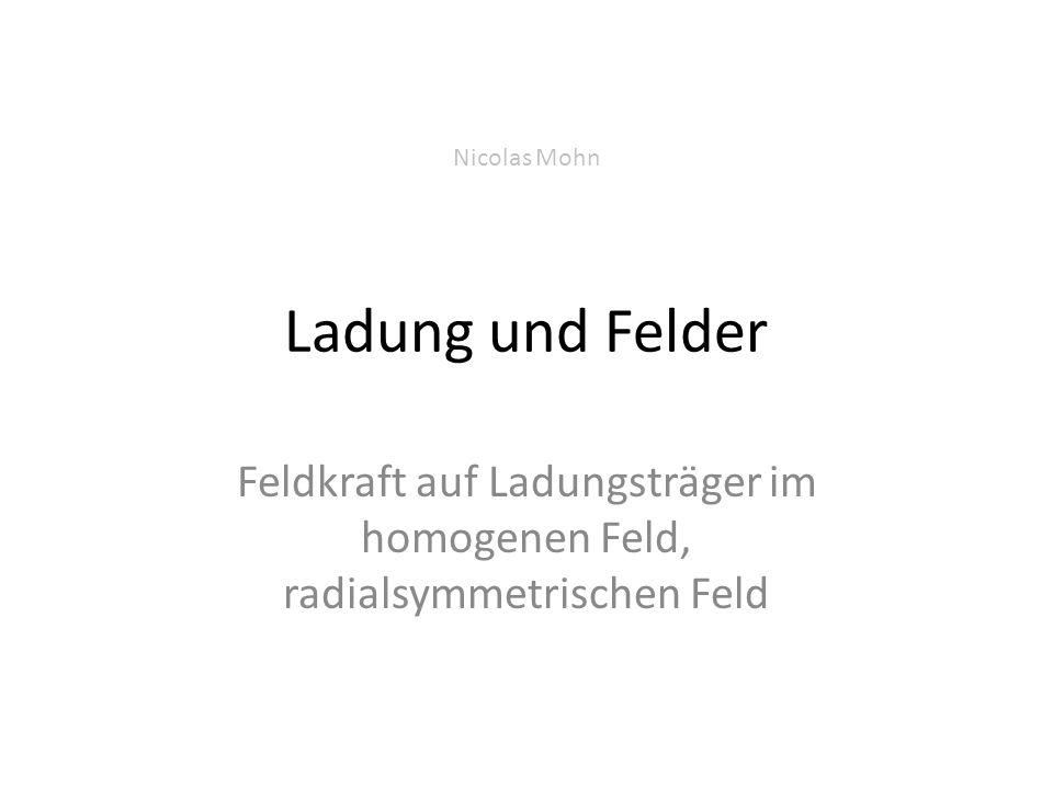 Nicolas Mohn Ladung und Felder.