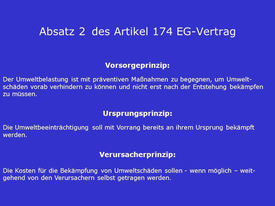 Absatz 2 des Artikel 174 EG-Vertrag