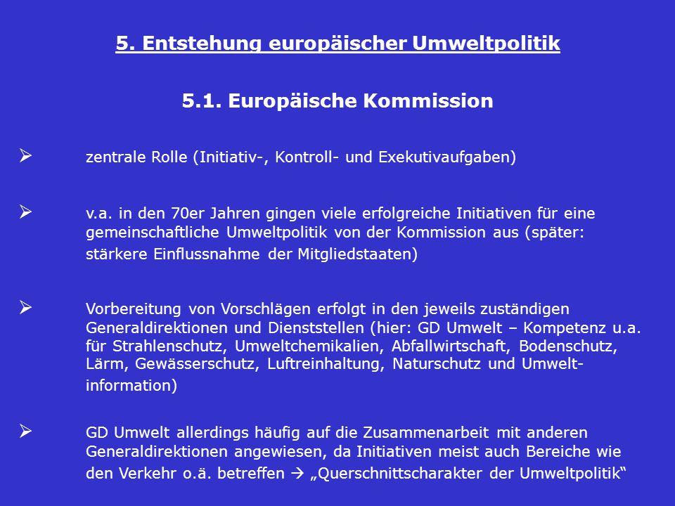 5. Entstehung europäischer Umweltpolitik